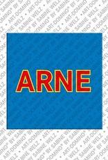 ART-DOMINO® by SABINE WELZ Arne - Magnet mit dem Vornamen Arne