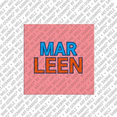 ART-DOMINO® by SABINE WELZ Marleen - Magnet mit dem Vornamen Marleen