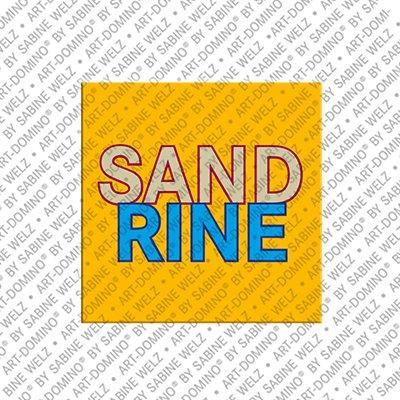 ART-DOMINO® by SABINE WELZ Sandrine - Magnet mit dem Vornamen Sandrine