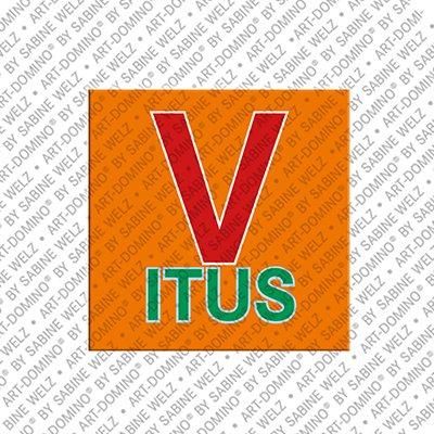 ART-DOMINO® by SABINE WELZ Vitus - Magnet mit dem Vornamen Vitus