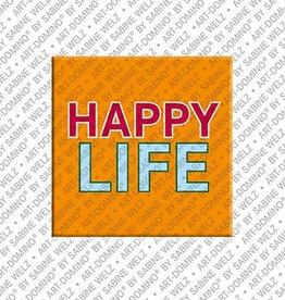 ART-DOMINO® by SABINE WELZ Magnet - HAPPY LIFE