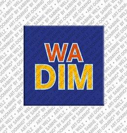 ART-DOMINO® by SABINE WELZ Magnet WADIM