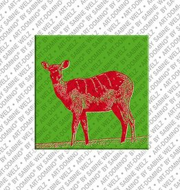 ART-DOMINO® by SABINE WELZ Magnet - Deer - 01