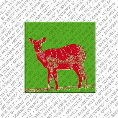 ART-DOMINO® by SABINE WELZ Animals in POP ART - Deer