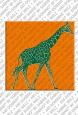 ART-DOMINO® by SABINE WELZ Animals in POP ART - Giraffe