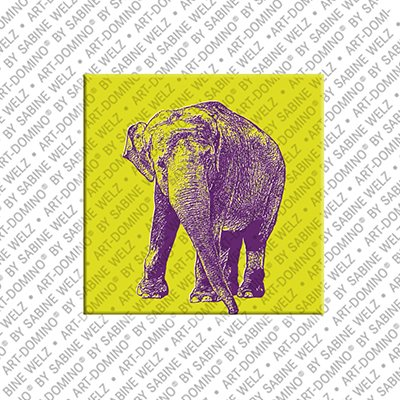 ART-DOMINO® by SABINE WELZ Animals in POP ART - Elephant
