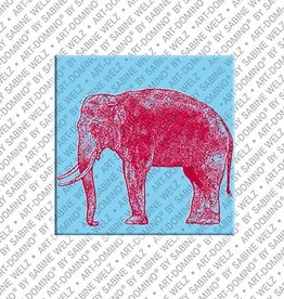 ART-DOMINO® by SABINE WELZ Magnet - Elephant - 02