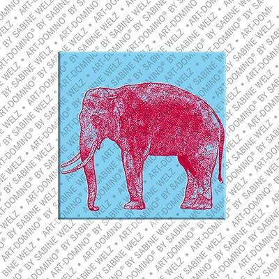 ART-DOMINO® BY SABINE WELZ Animals in POP ART - Elefant