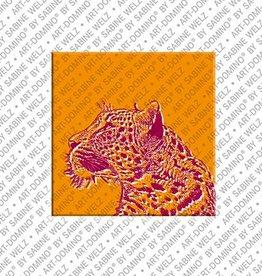 ART-DOMINO® BY SABINE WELZ Magnet - Leopard - 01