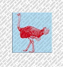 ART-DOMINO® by SABINE WELZ Magnet - Ostrich - 01