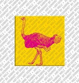 ART-DOMINO® by SABINE WELZ Aimant - Autruche d'oiseau - 02