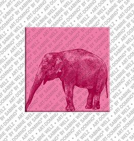 ART-DOMINO® by SABINE WELZ Magnet - Elephant - 03