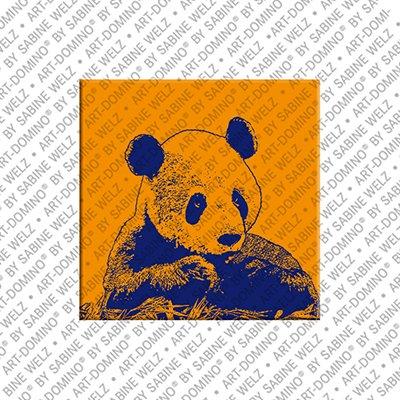 ART-DOMINO® by SABINE WELZ Animals in POP ART - Panda
