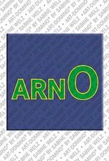 ART-DOMINO® BY SABINE WELZ Arno - Magnet mit dem Vornamen Arno