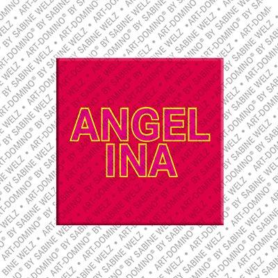 ART-DOMINO® BY SABINE WELZ Angelina - Magnet mit dem Vornamen Angelina