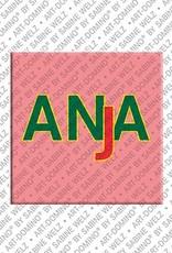ART-DOMINO® BY SABINE WELZ Anja - Magnet mit dem Vornamen Anja