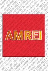 ART-DOMINO® BY SABINE WELZ Amrei - Magnet mit dem Vornamen Amrei