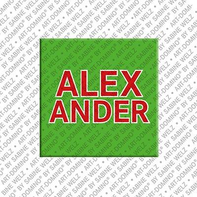 ART-DOMINO® BY SABINE WELZ Alexander - Magnet mit dem Vornamen Alexander