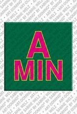 ART-DOMINO® BY SABINE WELZ Amin - Magnet mit dem Vornamen Amin