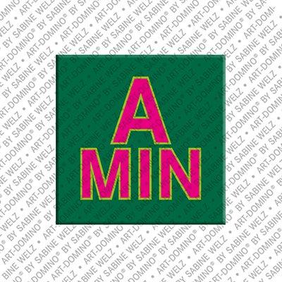 ART-DOMINO® by SABINE WELZ Amin - Aimant avec le nom Amin