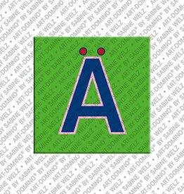 ART-DOMINO® by SABINE WELZ Magnet - Letter Ä - 1