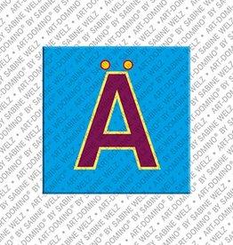 ART-DOMINO® BY SABINE WELZ Magnet - Buchstabe Ä - 2