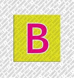 ART-DOMINO® by SABINE WELZ Magnet - Buchstabe B - 2