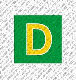 ART-DOMINO® BY SABINE WELZ Magnet - Buchstabe D - 1