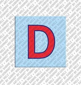 ART-DOMINO® BY SABINE WELZ Magnet - Buchstabe D - 2