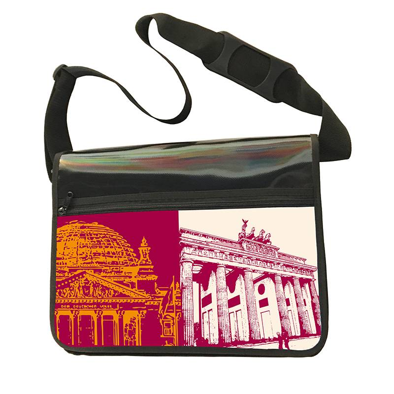 ART-DOMINO® by SABINE WELZ CITY BAG - Unique - Number 460 with Berlin motif