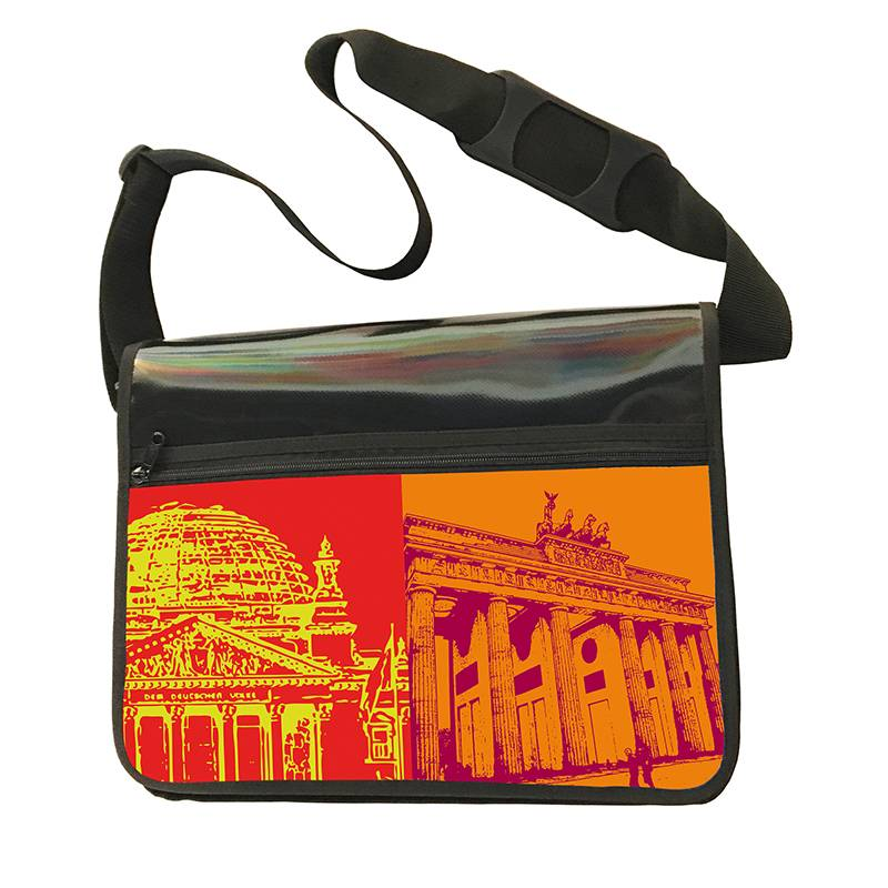 ART-DOMINO® by SABINE WELZ CITY-BAG - Unikat - Nummer 461 mit Berlin-Motiven