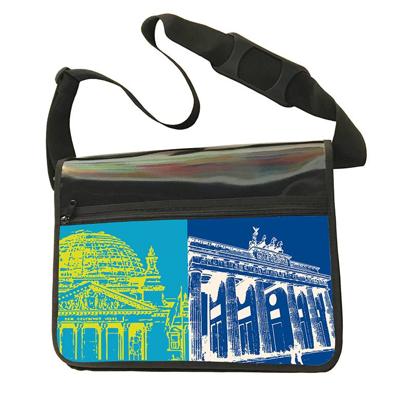 ART-DOMINO® by SABINE WELZ CITY-BAG - Unikat - Nummer 462 mit Berlin-Motiven