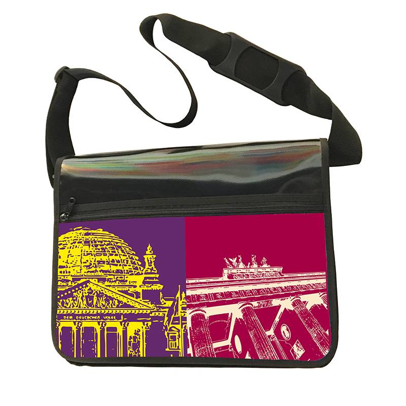 ART-DOMINO® BY SABINE WELZ CITY-BAG - Unikat - Nummer 469 mit Berlin-Motiven