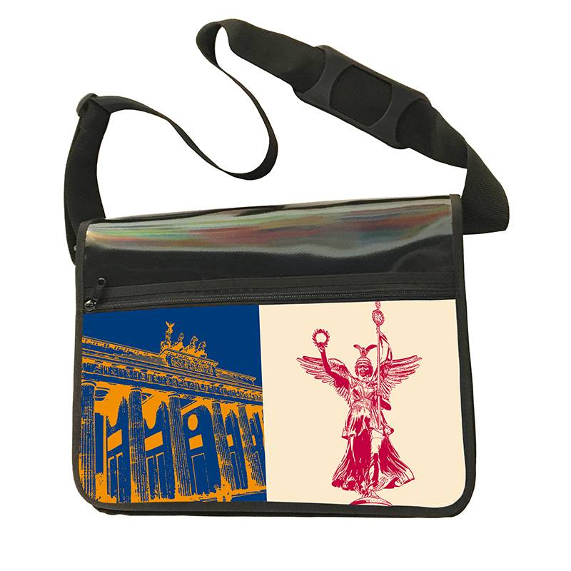ART-DOMINO® by SABINE WELZ CITY BAG - Unique - Number 476 with Berlin motif