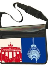 ART-DOMINO® by SABINE WELZ CITY-BAG - Unikat - Nummer 520 mit Berlin-Motiven