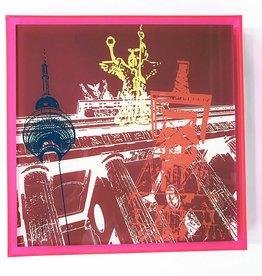 ART-DOMINO® by SABINE WELZ PHOTO ACRYLIQUE - BERLIN - COLLAGE 01 - Dans un cadre acrylique moderne