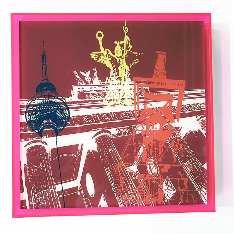 ART-DOMINO® by SABINE WELZ Berlin - Collage - 01 + Frame