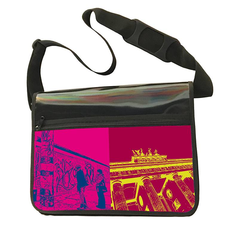 ART-DOMINO® BY SABINE WELZ CITY-BAG - Unikat - Nummer 418 mit Berlin-Motiven