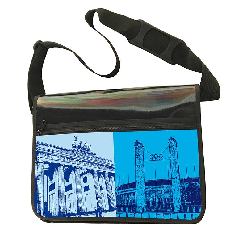 ART-DOMINO® by SABINE WELZ CITY-BAG - Unikat - Nummer 432 mit Berlin-Motiven
