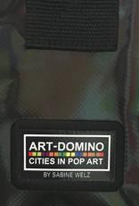ART-DOMINO® by SABINE WELZ CITY-BAG - Unikat - Nummer 441 mit Berlin-New-York-Motiven
