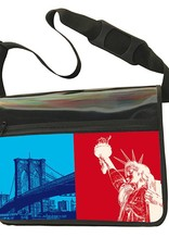 ART-DOMINO® by SABINE WELZ CITY-BAG - Unikat - Nummer 541 mit New-York-Motiven