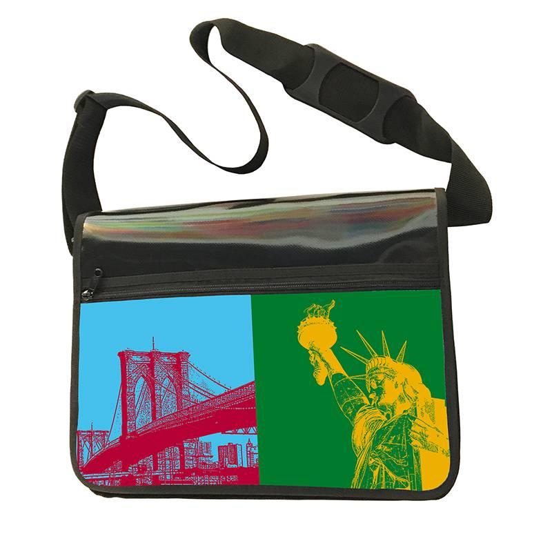 ART-DOMINO® BY SABINE WELZ CITY-BAG - Unikat - Nummer 542 mit New-York-Motiven