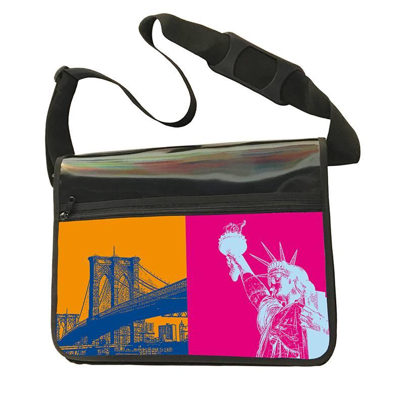ART-DOMINO® by SABINE WELZ CITY-BAG - Unikat - Nummer 544 mit New-York-Motiven