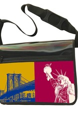 ART-DOMINO® by SABINE WELZ CITY-BAG - Unikat - Nummer 545 mit New-York-Motiven