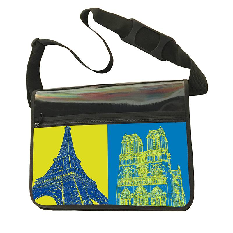 ART-DOMINO® BY SABINE WELZ CITY-BAG - Unikat - Nummer 555 mit Paris-Motiven