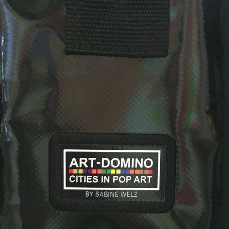 ART-DOMINO® by SABINE WELZ CITY-BAG - Unikat - Nummer 559 mit Saint-Tropez-Motiven