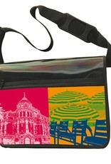 ART-DOMINO® by SABINE WELZ CITY-BAG - Unikat - Nummer 560 mit Nizza-Motiven