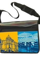 ART-DOMINO® BY SABINE WELZ CITY-BAG - Unikat - Nummer 561 mit Nizza-Motiven
