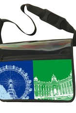 ART-DOMINO® by SABINE WELZ CITY-BAG - Unikat - Nummer 562 mit Wien-Motiven