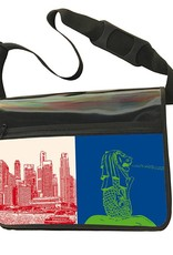 ART-DOMINO® BY SABINE WELZ CITY-BAG - Unikat - Nummer 567 mit Singapur-Motiven